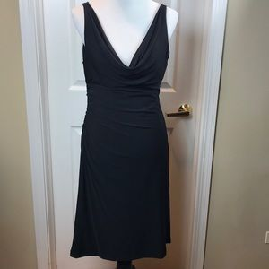 White House Black Market Black jersey dress, Sz 10